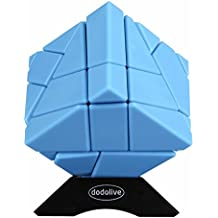 Dodolive 3X3X3 Abnormity Cube Ghost Cube Intelligence Stickerless Speed Puzzle Cube Ultra-Smooth Magic Cube,Blue