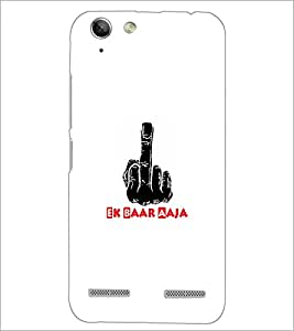 PrintDhaba Middle Finger D-5493 Back Case Cover for LENOVO A6020a46 (Multi-Coloured)