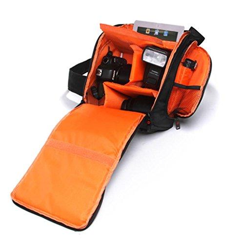 bbring 1Sling Kameratasche Wasserdicht DSLR Fall Orange Futter für Canon für Nikon für Sony (Cannon Camcorder 20)