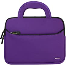 Evecase 11.6-12.2 inch Laptop/Tablet Sleeve Case Bags Portable - Neoprene Foam Zipper Carrying Bags with Pockets - Compatible for ASUS/Acer/HP/Dell/Samsung/Lenovo/Toshiba Notebook - Purple/Black