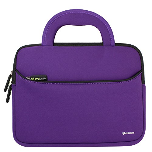 11,6 Zoll Laptophülle, Evecase Universal Neopren Tasche Notebooktasche Hülle mit Griff für MacBook Air, Laptop, Chromebook, Ultrabook - Violett Farben Notebook