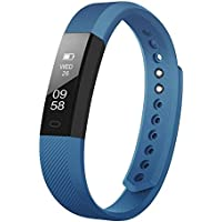 Upgrated Fitness Bluetooth Tracker Smart Watch Bracelet Call Reminder Calorie Counter Wireless Activity Tracker Pedometer Band Sport Sleep Monitor For iOS AndroidPhone (Deep Blue)