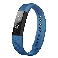 Upgrated Fitness Tracker Self-Timer Slim Smart Watch New Bracelet Bluetooth Call Reminder Calorie Counter Wireless Pedometer Band Sport Sleep Monitor Activity Tracker For Android iOS Phone (Blue)