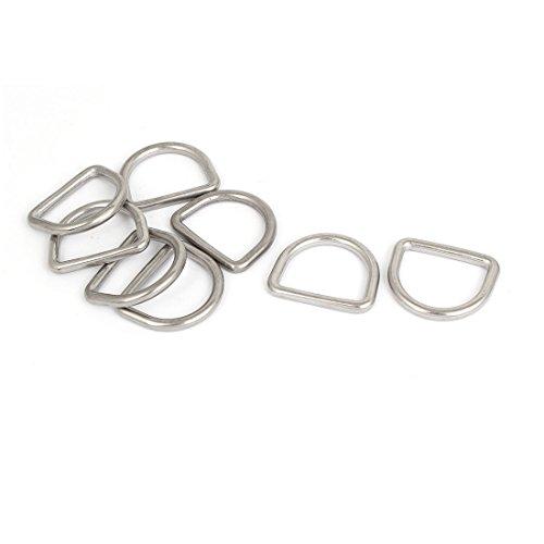 sourcingmap® Edelstahl D-förmige Haken D Ring Belt Schnallen 5PCS für Handtasche (T-griff Haken)
