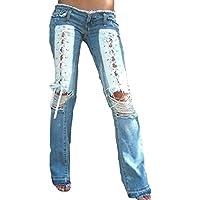 hongxin Vita Alta Spandex Rosa Femminile Corda Legata Jeans Lavato Pantaloni Svasati Sexy Moderno Casual S-5XL