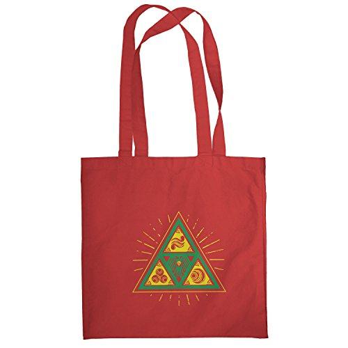 TEXLAB - Triforce Triangle - Stoffbeutel, (Aus Link Ideen Kostüm Zelda)