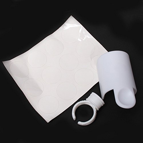 US Seller 2 PCS Lash Strip Pallet Ring Kit Glue Holder Cup False Eyelash Extension Kit by WindMax