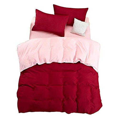 Verde Anti - allergico Bedding colore puro 4 pezzi , k , 1.8m bed