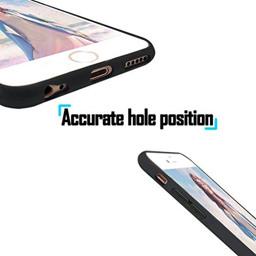 Coque iPhone 7 Plus, Étui iPhone 8 Plus [avec Verre Trempé], Étui Housse Téléphone le soulagement Étui TPU Silicone Souple Coque Motif Arrière Case Antichoc Résistant Aux Housse Étui - Paon Lion
