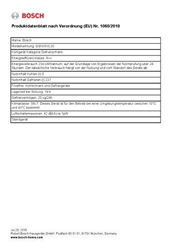 Bosch GSN36VL30 Serie 4 Gefrierschrank / A++ / Gefrieren: 237 L / Inox-look / No Frost / Super-Gefrieren - 3