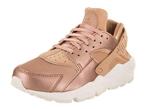 Nike Wmns Air Huarache Run Prm Txt Sneakers Beige Bronzo AA0523-200 (36 - Beige)