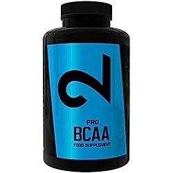 Dual Pro BCAA | BCAA Puro 100%|2:1:1 L-Leucina L-Isoleucina L-Valina-Aminoácidos Con Vitamina B6|Suplemento Para Gimnasio|Suplemento Deportivo|Calidad Premium: Certificado Por Laboratorio|300 Cápsulas|Suplemento Vegano Y Sin Gluten|Suministro Para 5 Meses:20 Centavos/Día | Fabricado en España