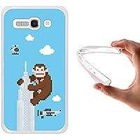 Funda Alcatel One Touch Pop C9, WoowCase [ Alcatel One Touch Pop C9 ] Funda Silicona Gel Flexible Pixel - Gorila en Rascacielo, Carcasa Case TPU Silicona - Transparente