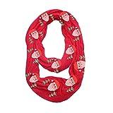 Damen Unisex Weihnachtsschal VENMO Loop-Reißverschluss Tasche Schal Rundschal, Loopschal Accessoire Halstuch in aktuellen Trendfarben Geschenkidee