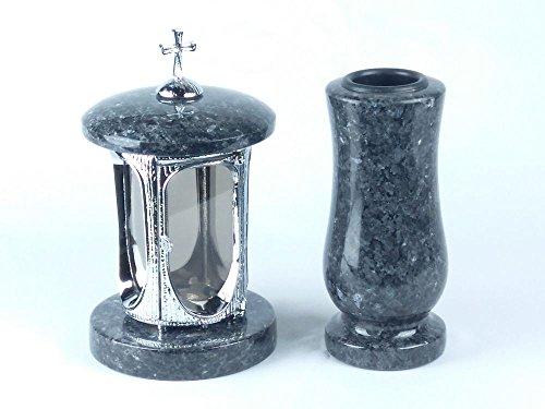 chromed-aluminium-grab-lamp-designgrab-with-cross-and-grave-vase-granite-labrador-waist-medium-blue-