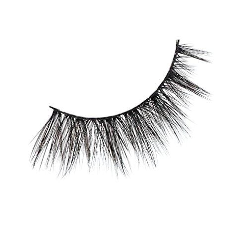 3D Falsche Wimpern YunYoud Natural Multi Layer Künstliche Wimpern Fashion Dickes Augen Lashes Cross Eye Lashes Wimpernverlängerung für Make-up (A)