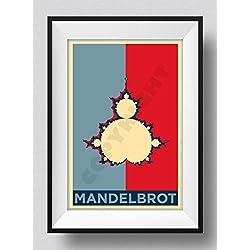 HOPE. Póster especial para regalo basado en Mandelbrot - Matemáticas psicodélicas de geometría fractal. Dimensiones: 60cm x 40cm