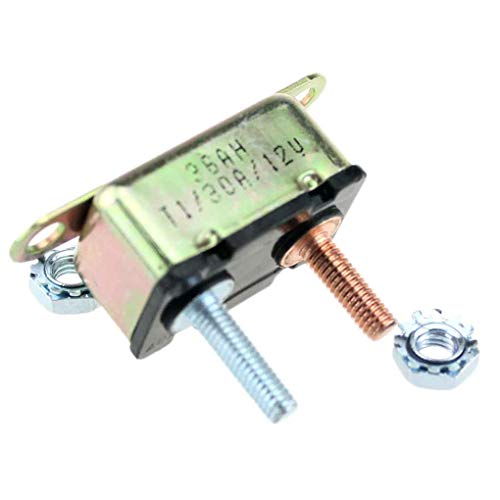 Hotaluyt 30A Metall Auto-LKW-Auto Automatische Zurücksetzen Stud Typ Circuit Breaker mit Crosswise Bracket - Installieren Circuit Breaker 30a