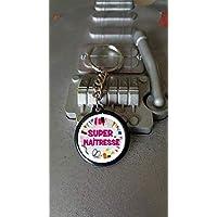 Porte clés 25 mm Super Maîtresse Crayon - Idée cadeau pour Noël Atsem Maîtresse Maître école Anniversaire