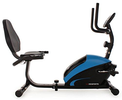 KS Cycling Fitnessgerät Recumbent Bike Sports, Blau, 303F