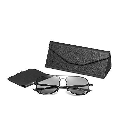 HHCC Mode Fahren Sonnenbrillen & Polarisierte Lesebrille Multifocal Brille ultraleichte, Rutschfeste HD-Leser Brillen für Frauen, Männer, grau,+2.50
