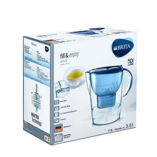 BRITA Marella XL Water Filter Jug, 3.5 L - Blue