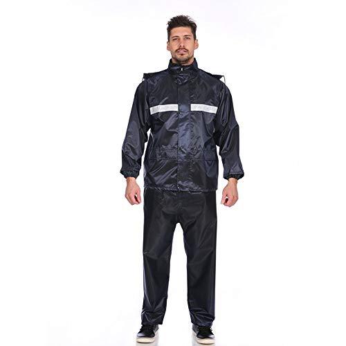 Poncho de pluie imperméable Épaissir moto manteau de pluie imperméable pantalon de pluie costume adulte équitation réfléchissante double couche Split Manteau imperméable multi-usage pour l'extérieur