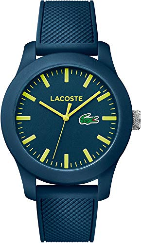 Lacoste Men's Wristwatch ACOSTE Poloshirt in A Watch Collection Analogue Quartz Silicone 2010792
