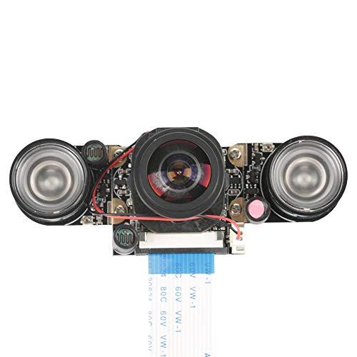 Akozon Kameramodul 5 Millionen Pixel OV5647 Sensor HD Video Webcam unterstützt Nachtsicht automatisch schalten IR Cut Kamera Modul Board mit füllen Lichter für Raspberry Pi B 3/2(mit Fülllicht)