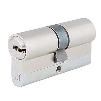 FAC 23255 Cilindro de Perfil Europeo de Alta Seguridad, Cromo Satinado, 70 mm