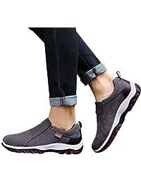 JiaMeng Zapatillas Deporte Zapatos de Entrenamiento para Hombre Malla Respirable Zapatillas de Senderismo al Aire Libre Zapatos Casuales Zapatillas Antideslizantes