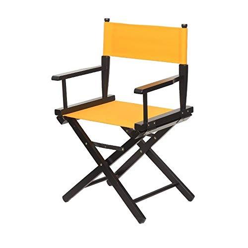 Jiangang shop-Hocker Haus Holz Künstler Regiestuhl Klappbarer Leinenstuhl Barstuhl Rückenlehne Büro Lounge Stuhl Kosmetikstuhl Angelstuhl Strandstuhl Make-up Stuhl (Farbe : H) -