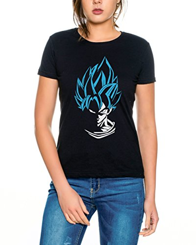 Super Son Goku Camiseta de Mujer Goku Dragon Master Son Ball Vegeta Turtle Roshi Db, Farbe2:Schwarz/Blau;Größe2:M