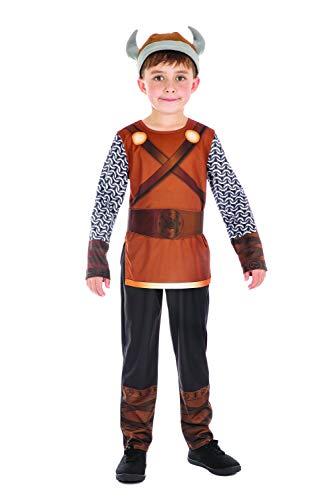 Wikinger Kostüm Junge - Bristol Novelty CF203 Wikinger Kostüm, Jungen, braun, m