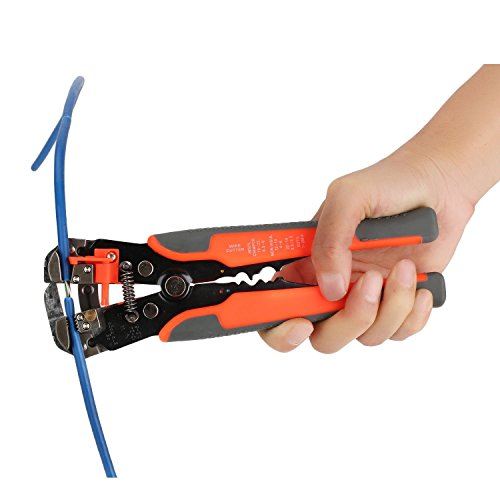 Pynarc Fat Max Pinze Spelafili Automatiche Tools 8-Inch Self-Adjusting Automatic Wire and Cable Stripper Cutters Crimper Stranded Wire Cutting for Industry WRP8100