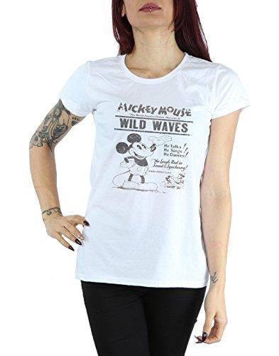 Disney Femme Mickey Mouse Making Waves T-Shirt Blanc