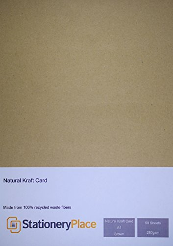 stationery-place-carte-carton-kraft-naturel-marron-recycle-epais-a4-280gm-pack-de-50-feuilles