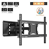 "1home 37""-80"" Double Arms Full Motion Tilt & Swivel TV Wall Mount Bracket"