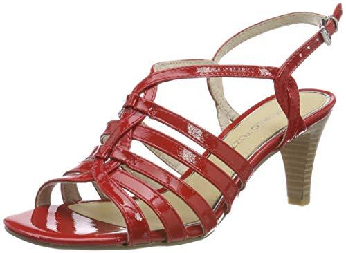 MARCO TOZZI Damen 2-2-28321-22 Riemchensandalen, Rot (Red Patent 524), 36 EU Red Patent Schuhe