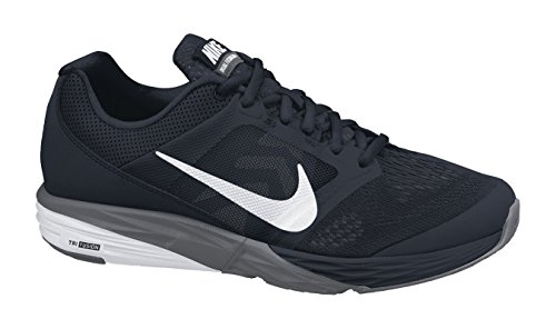 Nike Tri Fusion Run, Chaussures de Running Entrainement Homme Noir / Blanc / Gris (Noir / Blanc-Gris foncé)