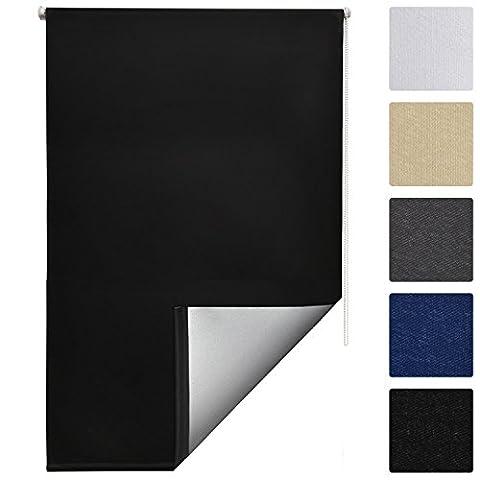 Sol Royal Thermo-Rollo Verdunkelung + Klemmfix ohne Bohren + 90 x 160 cm Schwarz + weitere Farben und
