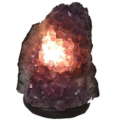 Lampe Amethyst, Edelsteinlampe Nr.304,aus Brasilien, Naturstein Leuchte