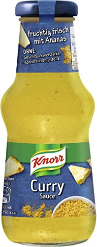 Knorr Schlemmersauce Curry, 6er Pack (6 x 250 ml)