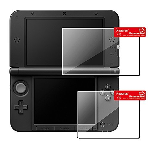 Insten 2-LCD Kit (Top+Bottom) Reusable Clear Screen Protector Film Guard Compatible With Nintendo 3DS XL by INSTEN Clear Screen Guard Protector