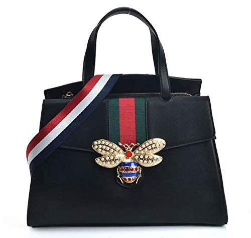 c1a9362cfaa Women s Cute Medium Size Multicoloured Belt Strap Style Steady Tote Bag  With Bee Decoration (Medium
