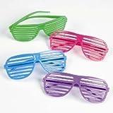 Oriental Trading Shutter Shading Glasses (12-Pair)