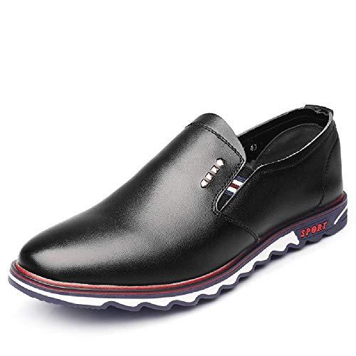 JSYS Le Scarpe Sportive Casual da Uomo Sono Popolari Scarpe da Uomo di Tendenza della Moda Coreana Scarpe da Corsa all'aperto Primavera e Autunno Scarpe Pigre della Gioventù,Black-41EU