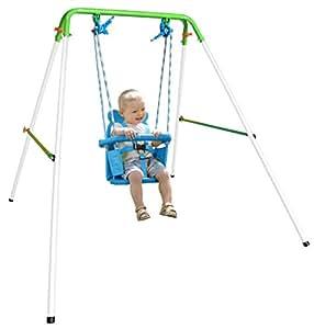 Natus folding toddler indoor outdoor swing set amazon for Baby garden swing amazon