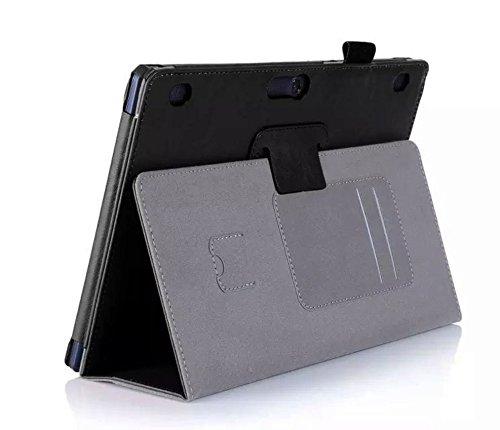 WiTa-Store Hülle für Lenovo Tab 2 A10-30 A10-70F / Tab 10 TB-X103F 10.1 Zoll Schutzhülle Etui Tablet Tasche Smart Cover A10-70L (Schwarz)