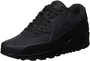 NIKE Men's Air Max 90 Essential Gymnastics Shoes, (Black/Anthracite 009), 7 UK 7 UK
